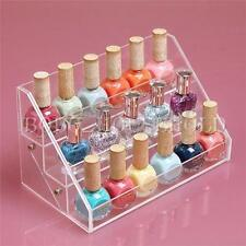 Acrylic 3 Tiers Clear Beauty Makeup Nail Polish Storage Organizer Display Stand