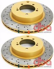 DBA 2008-2017 SUBARU WRX STI TURBO REAR DRILLED & SLOTTED BRAKE ROTORS PAIR SET