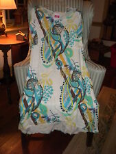 "NWT FRESH PRODUCE100% COTTON "" RIO""  DESIGN CLUB STYLE DRESS ON WHITE ( M )"