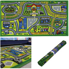 JVL Anti Slip Children's Road Map Town Carpet Kids Bedroom Play Mat Rug 80x110cm
