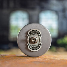 Switch Cover 111 - Antique Nickel Industrial Switch Plate Steampunk Switch Panel