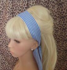 Nautique bleu royal à rayures blanc Cheveux Tête Bande Self Tie Bow marin fille rétro