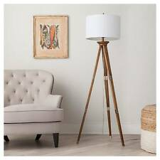 Oak Wood Tripod Floor Lamp (Includes CFL Bulb) - Threshold™