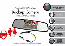 "4.3"" Car LCD Rear View DVD Mirror Monitor + Wireless Night Vision Backup camera"