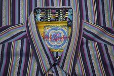 Robert Graham Bold Multicolor Shirt Size Large Crazy details