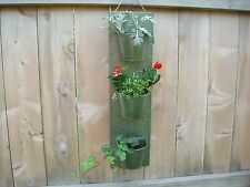 """25"""" Tall Vertical Galvanized Metal Flower/Herb Planter w/3 Potting Containers"""