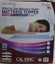 "*NIOB* NovaForm 3"" Gel Memory Foam Mattress Topper Cal King w/Cover"