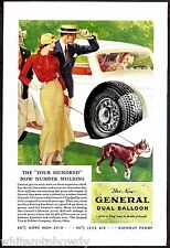 1933 BOSTON TERRIER General Balloon Tires Antique Art Print AD