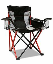 Oversized Big Heavy Duty Camping Chair Cooler Cup Holder Large Folding Portable