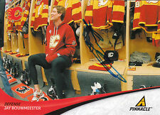 JAY BOUWMEESTER FLAMES AUTOGRAPH AUTO 11/12 PINNACLE #75 *28155