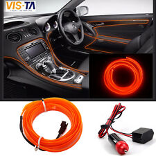 5M Universal Car Interior LED Decorative Wire Strip Atmosphere Cold Light Orange