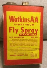 ANTIQUE Watkins Fly MOSQUITO INSECT SPRAY   1 GALLON