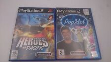 PACK:HEROES OF THE PACIFIC + POP IDOL SONY PLAYSTATION PS2 PAL.ENVIOS COMBINADOS