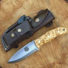 TBS GRIZZLY BUSHCRAFT SURVIVAL KNIFE - DC4 &Firesteel Edition - Curly Birch