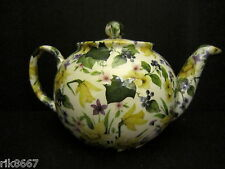 1 HERON CROSS poterie JONQUILLES Chintz anglais 3 tasse pot de thé ou 2 tasses