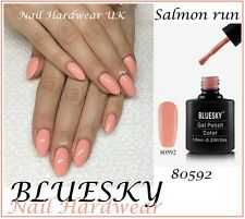 Bluesky SALMON RUN PEACH NUDE NEUTRAL UV/LED Gel Nail Polish 10ML FREE POST NEW