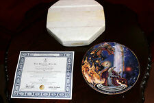 "Royal Doulton Porcelain Plate 8"" THE DRAGON MASTER with Swarovski Crystal & Box"