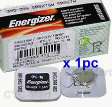 1 pc Energizer 395 SR927SW Silver Oxide Watch Battery Made in USA FREE POST WW