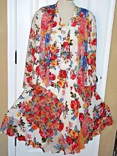 VINTAGE CAROLE LITTLE 3-PIECE SKIRT OUTFIT *FLOWER GARDEN*SKIRT, TOP, JACKET
