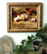 Puppies Jack Russell Dog Print Vintage Style Framed Horse