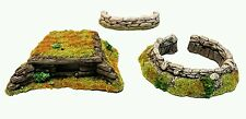 Wargames Terrain 28mm  Resin Bunkers & Sandbags set  Bolt Action 40k UNPAINTED