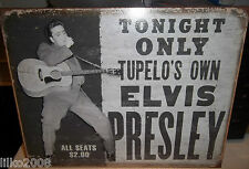 ELVIS PRESLEY CONCERT, TUPELO'S OWN, USA  METAL SIGN 40X30cm, ROCK n ROLL