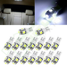 20pcs Xenon White T10 W5W 168 Interior LED Light Bulb Lamps For RV Tailer Truck