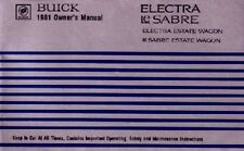 1981 Buick Electra Lesabre Owners Manual User Guide Reference Operator Book OEM