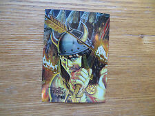 1994 SAVAGE SWORD OF CONAN # 137 CHROME COVER CARD SIGNED BOB LARKIN, WITH POA