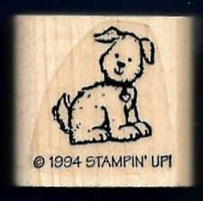 PUPPY DOG Drawn Animal Pet gift tag Stampin' Up! Small Favorite RUBBER STAMP