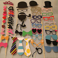 58PCS Masks Photo Booth Props Mustache On A Stick Birthday Wedding Party DIY TO