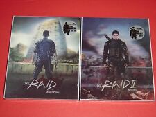 The Raid 1 & 2 Lenticular Steelbook Set Kimchidvd #20 0702/1500 & #21 1376/1500