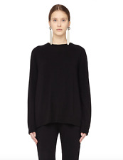 New $1090 The Row Heba Merino Wool Cashmere Sweater in Black sz S- Current