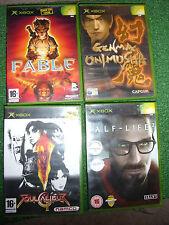 4 ORIGINAL XBOX GAMES BUNDLE SOULCALIBUR II + FABLE +HALF-LIFE 2 +GENMA ONIMUSHA
