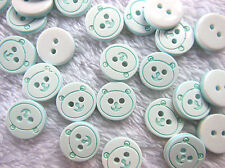 50pcs Bear Pattern 2 Holes Resin Sewing Buttons Fit Sewing 13mm