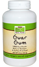 NEW NOW FOODS REAL FOOD GUAR GUM 100% PURE POWDER NATURAL GLUTEN FREE VEGETARIAN