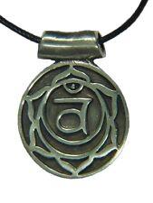 BUTW Swadisthana Sacral Plexus Navel Chakra Amulet Pewter Pendant Necklace 9756B