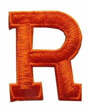 "Letters-Orange Letter ""R"" Embroidery Iron On Applique Patch"