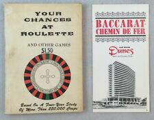 1958 Your Chances At Roulette and Other Games & Dunes Casino Rules Las Vegas