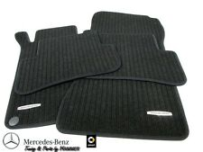 Floor mats Set Classic W/S C Class 203 Mercedes Rips black B66360215
