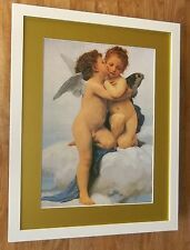 "First Kiss da William Adolphe Bouguereau, 20''x16', ""CHERUBINI Incorniciato Wall Art"