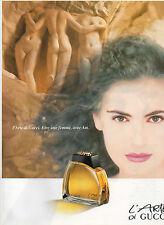 Publicité Advertising 1990  Parfum  L'ARTE DI GUCCI