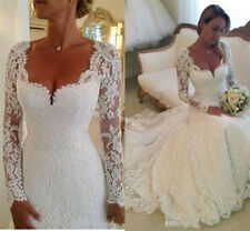 White ivory Wedding dress Bridal Gown custom size  2  4 6 8 10 12 14 16 18
