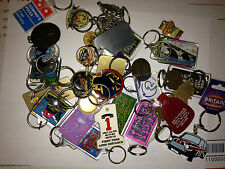 VINTAGE KEYCHAIN LAPEL PIN COLLECTION 36 pc LOT 1970s-2000s METAL PLASTIC
