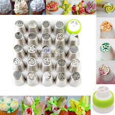 24Pcs Russian Tulip Icing Piping Nozzles Cake Decorating Tips Pastry Baking Tool