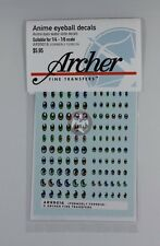 Archer Anime Eyeball Decals #2 (1/6 to 1/4) (10 Styles 3 Colors 60 Figs) AR99016