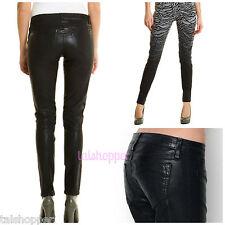 NWT 23 BLEULAB Detour Reversible Skinny Jeans Black Zebra Coated ASO Celebrity