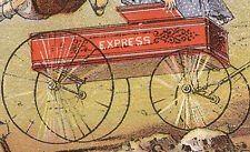 KIDS IN TOY EXPRESS WAGON, GENDRON IRON WHEEL CO TRADE CARD, OUTSTANDING, TC472