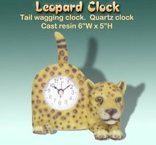 LEOPARD Tail Waggin'  Table CLOCK for Table or Desk