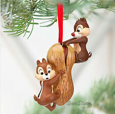 NEW Disney Store CHIP AN' DALE CHIPMUNK PEANUT Christmas Holiday Ornament 2012
